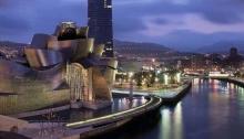 Noche en la ciudad de Bilbao